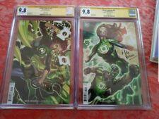 2x Green Lanterns #51 & 55 CHRIS STEVENS VARIANT CGC SS 9.8 signed Mike Perkins