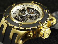 """NEW Invicta Subaqua Swiss Made Chronograph 18K Gold Ip """"Twisted Metal"""" SS Watch"""