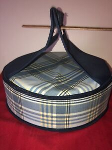 """INSULATED 11.5"""" ROUND HANDLED ZIP TOP CASSEROLE PIE FOOD CARRIER PICNIC PLUS"""