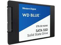 """WD Blue 3D NAND 2TB Internal SSD - SATA III 6Gb/s 2.5""""/7mm Solid State Drive - W"""