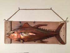 Yellowfin Tuna Beach House Copper Wall Art Blue Marlin Sculpture Game Fish 058