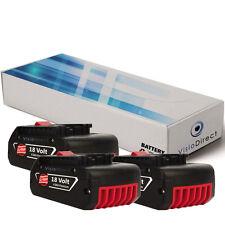 Lot de 3 batteries 18V 4000mAh pour Bosch GML20 Baustellen Radio