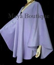 Cashmere Cape Ruana Coat Wrap Periwinkle USA Made Maya Matazaro