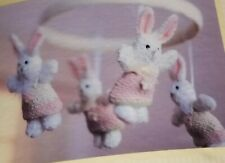NEW Wendy Bellissimo Baby Musical Crib Mobile Vintage Teaberry Bunny ShabbyChic