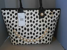 Betsey Johnson NWT Smiley Pearl Dots Tote Handbag
