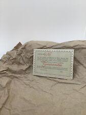 GENUINE Rolex vintage Guarantee Blank Booklet-1962-ENGLISH RARE- Perfect