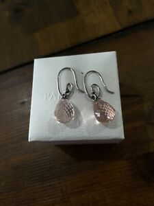 CLEARANCE- AUTHENTIC PANDORA COMPOSE PINK MURANO EARRINGS -RETIRED HTF 290676CPK
