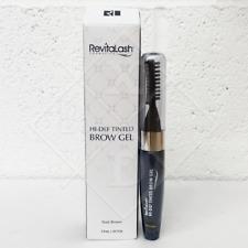 RevitaLash HI-DEF Tinted BROW Gel DARK BROWN 7.4ml Full-Size NEW SEALED RRP £32
