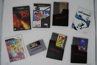Nintendo Misc 8 Games Lot (NES, SNES, NGC, WII)