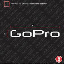 2X GO PRO LOGO sticker vinyl decal