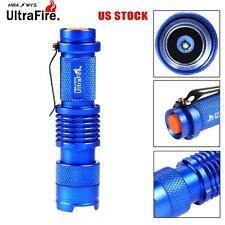 Ultrafire SK68 8000 LM LED Flashlight Zoomable Pocket Torch Light US Stock UP