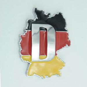For Volkswagen Germany DE Flag Chrome Metal Emblem Badge Sticker