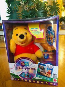 "My Interactive Winnie the Pooh Moves Talks Mattel 1998 New Sealed Box 14"" Tall"
