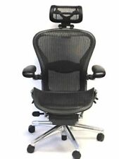 Executive  Fully-Adjustable Size B Lumbar Support With Headrest Aeron Chair
