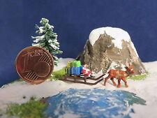 (EW04) santa claus on christmas sled Scale Gauge Z (1:220)
