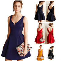 Women's Sexy Knee Length Dress Sleeveless Bridesmaid Dress