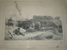 GRANDE Litho RAFFET SIEGE d'ANVERS BATTERIE ARTILLERIE 1832 ANTWERPEN BELGIQUE