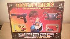 LASER FIGHTER X SET 2 LASER GUNS & VESTS NEW