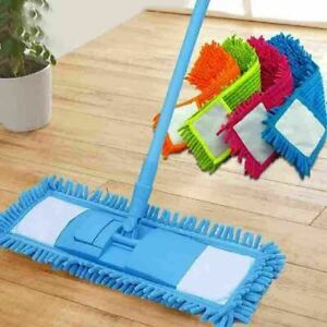 2 Pack Microfibre Mop Heads Refill Replacement Cloth Dust Cleaning Pad Washable