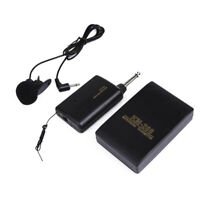 3.5mm Stereo Wireless FM Transmitter Receiver Lavalier Lapel Clip Microphone E2D