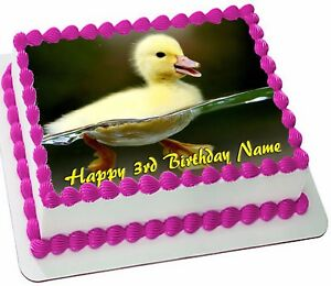 BABY DUCK  ICING  Edible CAKE TOPPER PARTY IMAGE FROSTING SHEET