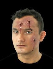 Halloween Hole In The Head Kit, 3 Bullet Holes & Liquid Latex & Blood & Brush