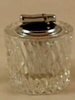 Vintage Colibri Lead Crystal Table Lighter Made In West Germany