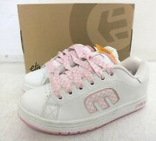 Etnies 'Callicut' White Leather w/Pink Checker Women's Skateboard Shoes US 5/35