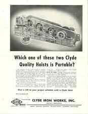 CLYDE IRON WORKS CATALOG PAGE - CLYDE QUALITY HOISTS