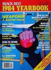 1984 BLACK BELT YEARBOOK STEVE SANDERS IN HYUK SUH NINJA WEAPONS KARATE KUNG FU