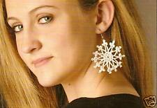 LOVELY Snowflake Earrings/Apparel/Crochet Pattern INSTRUCTIONS ONLY