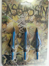 2packs 3 stainless steel Arrow tip heads 3 blades surgically sharp hunting arrow