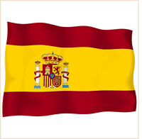 sticker stickers decal vinyl decals national flag car SPAIN ensign