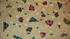 Miniature Holiday/Christmas Birdhouses Novelty Print Fabric - 1 yard
