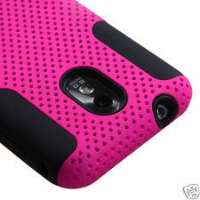 SAMSUNG GALAXY S II 2 SPRINT D710 R760 EPIC TOUCH 4G MESH HYBRID CASE HOT PINK