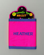 Personally Yours Wallet ~ HEATHER ~ Stocking Stuffer ~ Pink Personalized Wallet