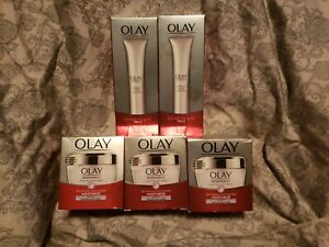 Olay Regenerist Night Recovery Cream lot of 5 Anti-Aging Moisturizer 1.7oz + NEW