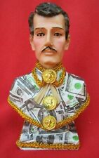 Mexican Folk Saint ~ The Narco Santo ~ Jesus Malverde Wearing Dollar Shirt