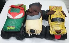 Monster Jam Stuffed Plush Trucks Autographed Lot of 3 TMNT Taz Monster Mutt