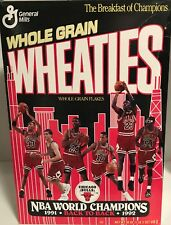 Chicago Bulls Jordan Paxson Pippen Wheaties Box 1992