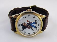 Vintage c1970 By Adorable Cales Micky Mouse Mechanical Swiss Made Watch