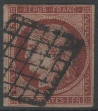 "FRANCE STAMP TIMBRE N° 6 b "" CERES 1F CARMIN FONCE 1849 ""OBLITERE TB A VOIR N457"