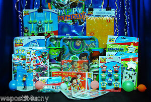Toy Story 3 D Party # 28 Cup Plate Napkin Bandz Sticker Invite Cupcake Stand