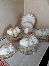 VINTAGE CHINA TEA SET E HUGHES & CO. FENTON STAFFORDSHIRE  35 pieces