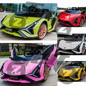 Kids Latest Licensed Lamborghini Ride on Car SIAN 12V Battery 2.4G Remote