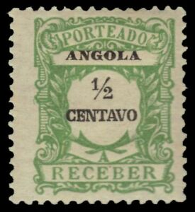 """ANGOLA J21 - Numeral of Value """"Postage Due"""" (pa14767)"""