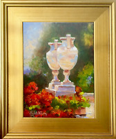 Oil painting Urns In Sunlight by Nationally Published Artist! Dreamscape Series