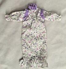 """Purple Floral BARBIE 3X9"""" Gown Dress Doll Clothes"""