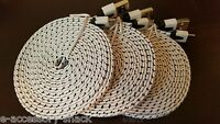 3x 10FT Braided Rapid Charge Micro USB Cable Fast Sync Charger Power Cord White