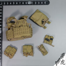 A109 1:6 Scale ace Military action figure parts - LBT 6094A Tan Vest w/ Pouches